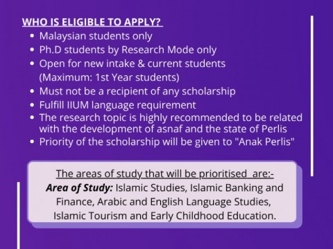 Jamalullail Scholarship (OCT 2021) is now opened for application