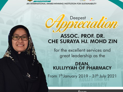Appreciation to the previous Dean and her office bearers