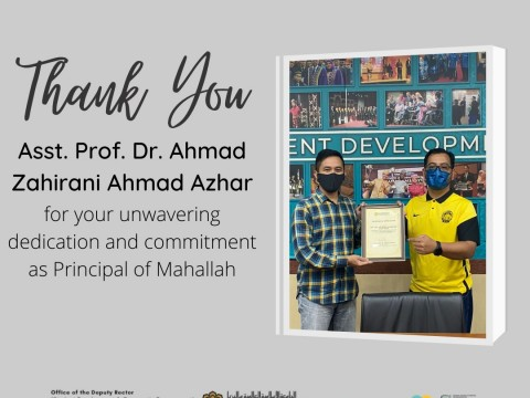 HEARTIEST APPRECIATION TO ASST. PROF. DR. AHMAD ZAHIRANI AHMAD AZHAR