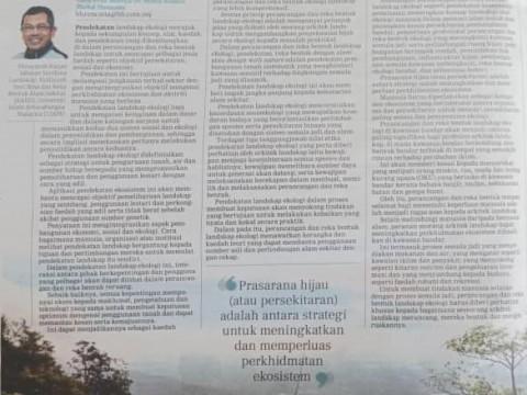 Keseimbangan Ekologi Jamin Kelestarian Alam, Hindari Bencana.
