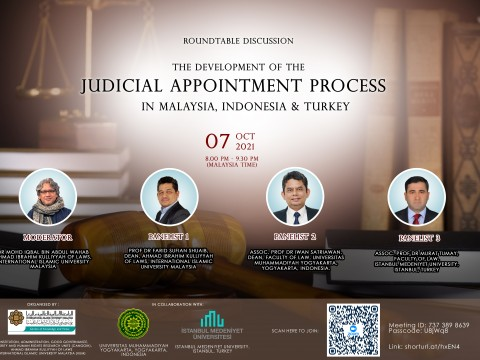 MALAYSIA, INDONESIA AND TURKEY CONTINUE IMPROVING THE JUDICIAL APPOINTMENT PROCESS TO ENSURE AN INDEPENDENT JUDICIARY