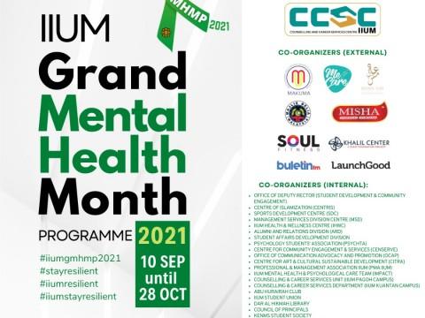 IIUM Grand Mental Health Month Programme 2021