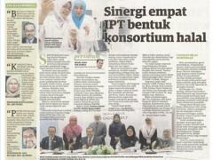 Sinergi empat IPT bentuk consortium halal; Utusan Malaysia, 16 Aug 2017