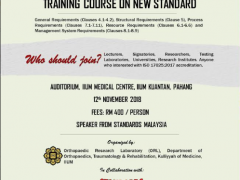 MS ISO/IEC 17025:2017 Accreditation; Training Course on New Standard