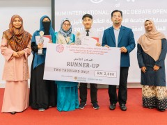 IIUM ARABIC DEBATE TEAMS Crowned as the Champion of IIADO 2019
