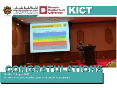 Talk on Risk Management by Asst. Prof.  Dr. Mior Nasir