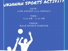 ODRSDCE UKHWAH SPORTS ACTIVITY