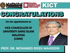 Congratulation Prof Ridza as USIM Vice Chancellor