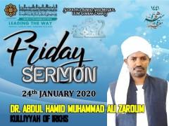 KHATIB THIS WEEK – 24th January 2020 (FRIDAY) SULTAN HAJI AHMAD SHAH MOSQUE, IIUM GOMBAK CAMPUS