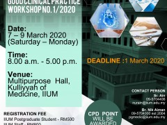 Good Clinical Practice Workshop No. 1/2020