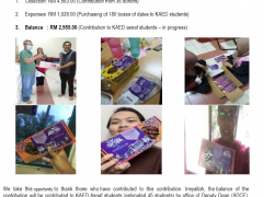 CONTRIBUTION FOR KAED STUDENTS IN CAMPUS DURING MCO : CLOSED ACCOUNT