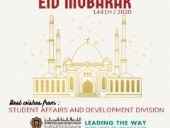 EID MUBARAK GREETINGS FROM STUDENT AFFAIRS & DEVELOPMENT DIVISION (STADD)