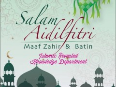 Eidul Fitri Greetings from Department of Islamic Revealed Knowledge, CFS