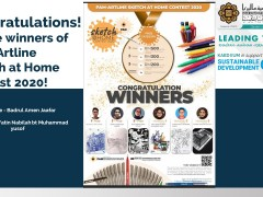 Congratulations! To the winners of PAM-Artline Sketch at Home Contest 2020!