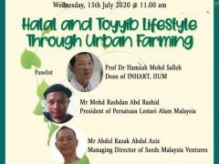 Live Webinar: Halal and Toyyib Lifestyle through Urban Farming