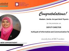 Congratulations to  Madam. Zenita Arryani Bt. Tiyunin