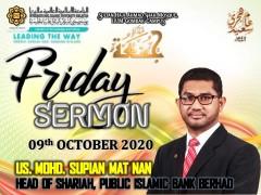 KHATIB THIS WEEK – 09th OCTOBER 2020 (FRIDAY) SULTAN HAJI AHMAD SHAH MOSQUE, IIUM GOMBAK CAMPUS