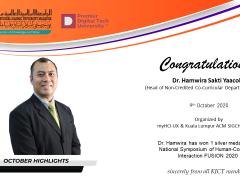 Congratulations Dr. Hamwira Sakti Yaacob