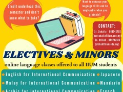 IIUM PAGOH: Electives & Minors online language classes offered to all IIUM students