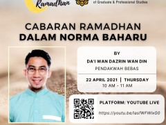 Invitation to Attend Online Tazkirah - Cabaran Ramadhan Dalam Norma Baharu