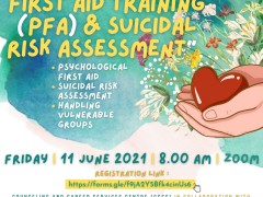 CCSC AND DEPARTMENT OF PSYCHIATRIC COLLABORATE ON ORGANIZING TRAINING OF PSYCHOLOGICAL FIRST AID (PFA) AND SUICIDAL RISK ASSESSMENT