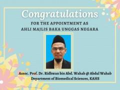 Appointment as Ahli Majlis Baka Unggas Negara