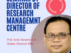 REPORT ON SEMINAR ON RESEARCH OPPORTUNITY BY RESEARCH MANAGEMENT CENTRE
