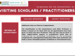 Tips of the Month: Visiting Scholars/Practitioners Guidelines