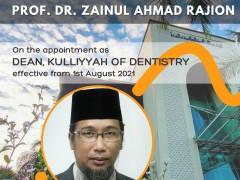 New Dean of Kulliyyah of Dentistry