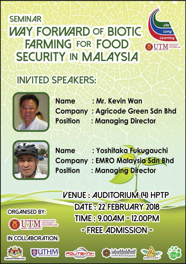 Seminar Way Forward of Biotic Farming for Food Security in Malaysia