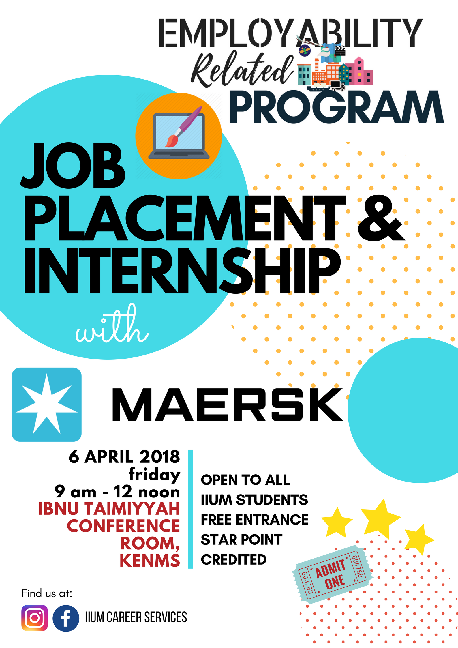 CAREER TALK - JOB PLACEMENT AND INTERNSHIP WITH MAERSK