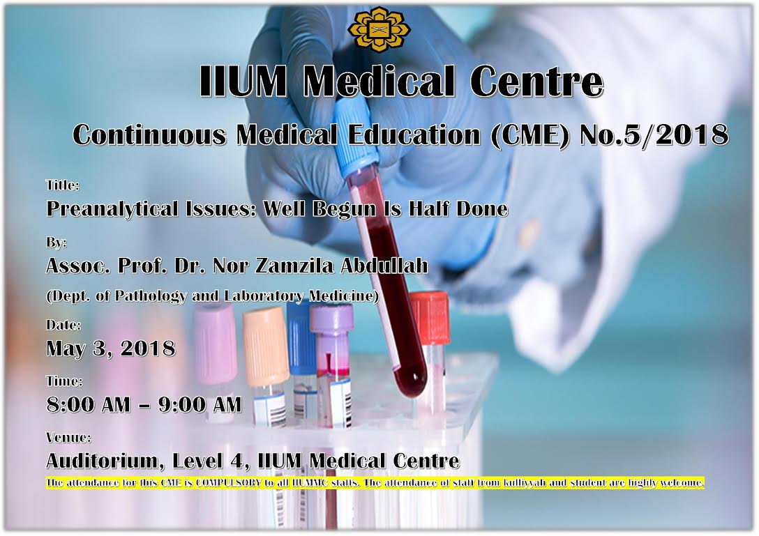 CONTINUOUS MEDICAL EDUCATION (CME) NO.​5/20​18​​​