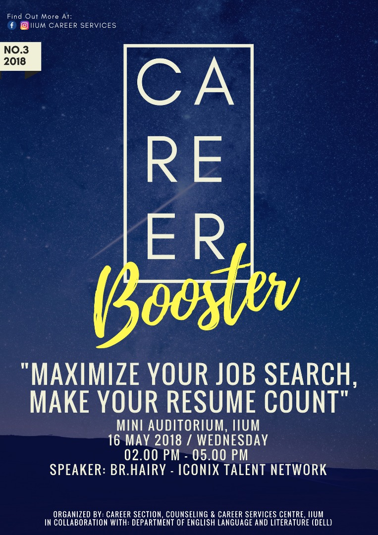 Career Booster : Maximize Your Job Search, Make Your Resume Count