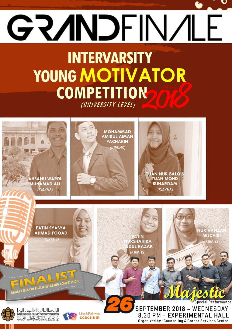 GRAND FINALE : INTERVARSITY YOUNG MOTIVATOR 2018