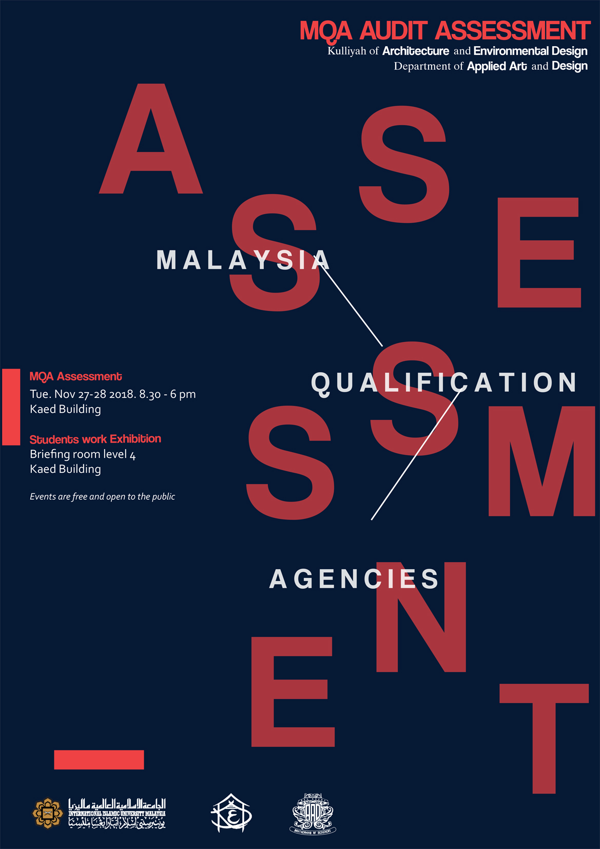 MQA Audit Assessment 2018 for Depatment of Applied Arts and Design