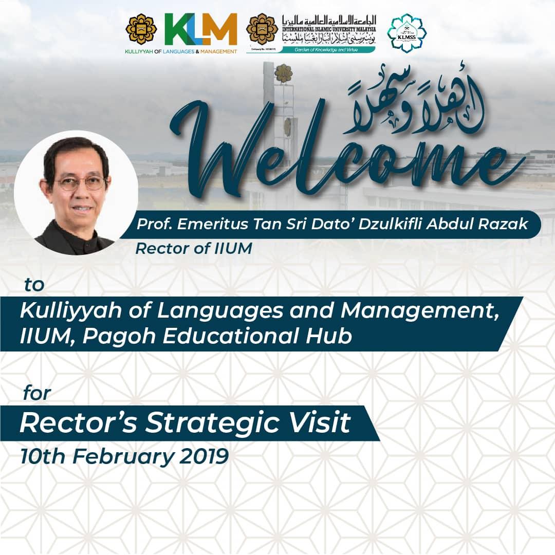 Rector's Strategic Visit