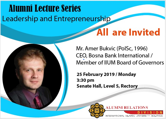 Talk on Leadership by Amer Bukvić CEO of Bosna Bank International