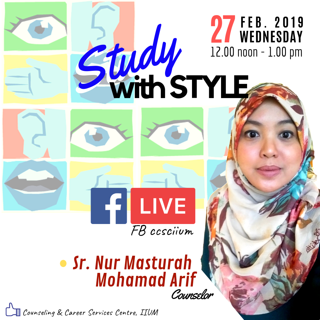FB LIVE WITH COUNSELOR SR. NUR MASTURAH MOHAMAD ARIF