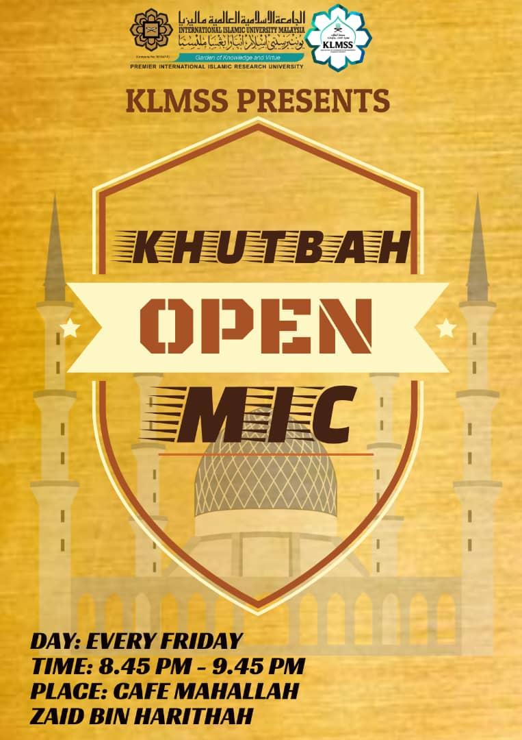 Khutbah Open Mic