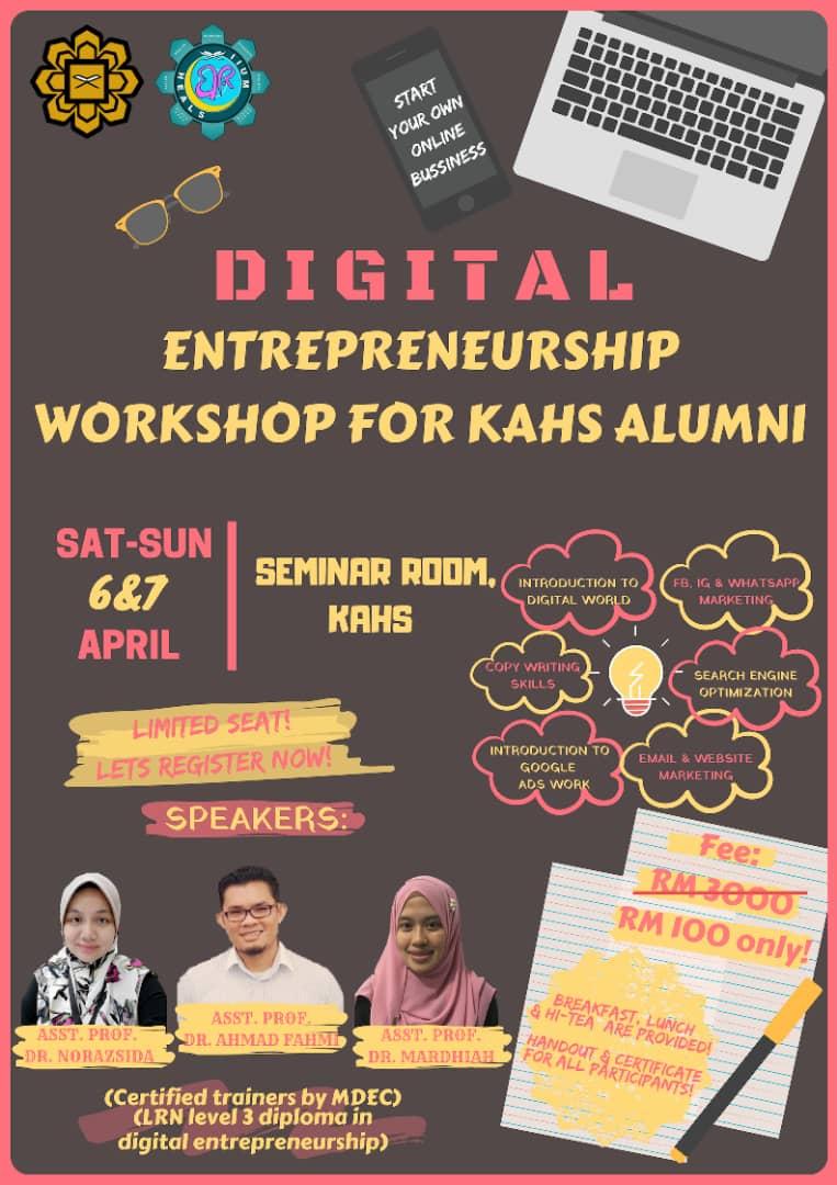 Digital Entrepreneurship Workshop for KAHS Alumni