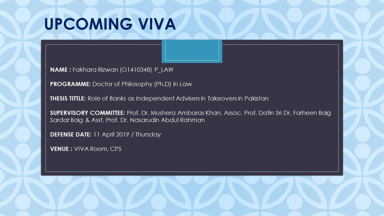 VIVA - Fakhara Rizwan (G1410348) P_LAW