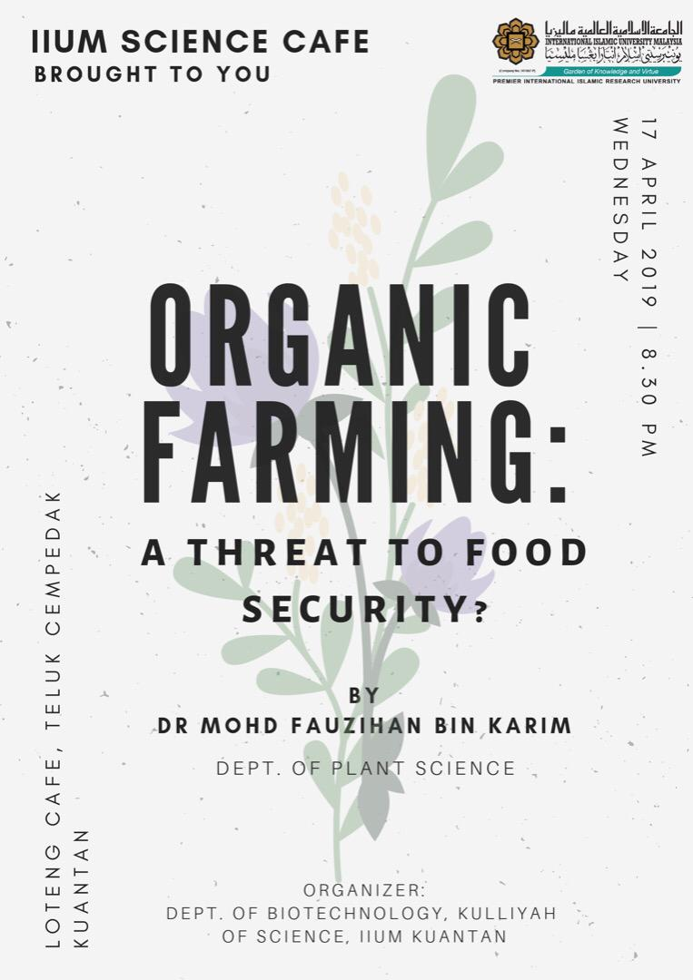 ORGANIC FARMING: A THREAT TO FOOD SECURITY?