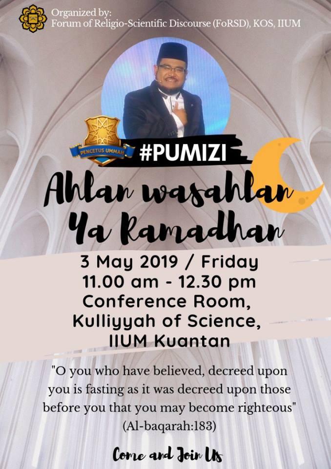 FoRSD Friday Talk : AHLAN WASAHLAN YA RAMADHAN by PU MIZI