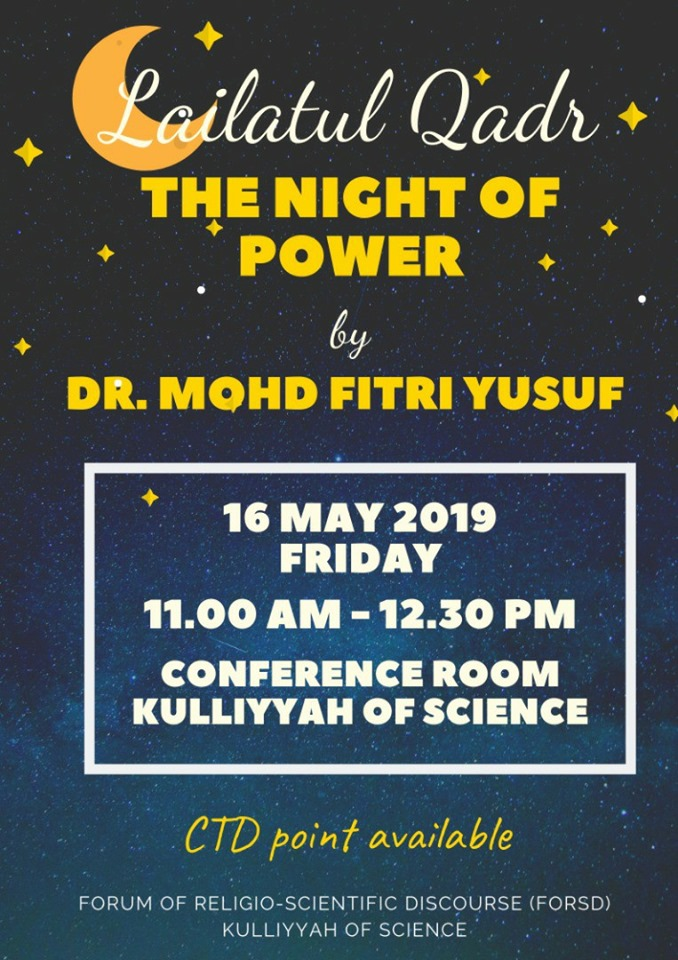 FoRSD Talk: Lailatul Qadr: The Night of Power