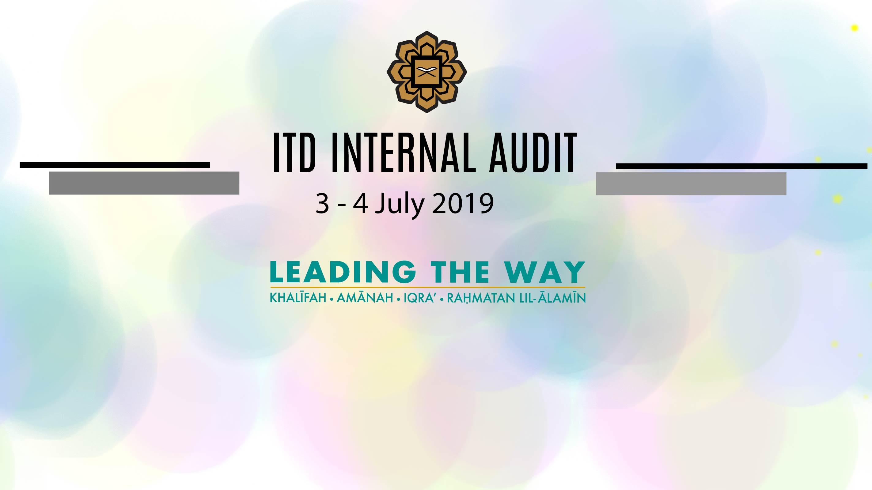 ITD Internal Audit 2019