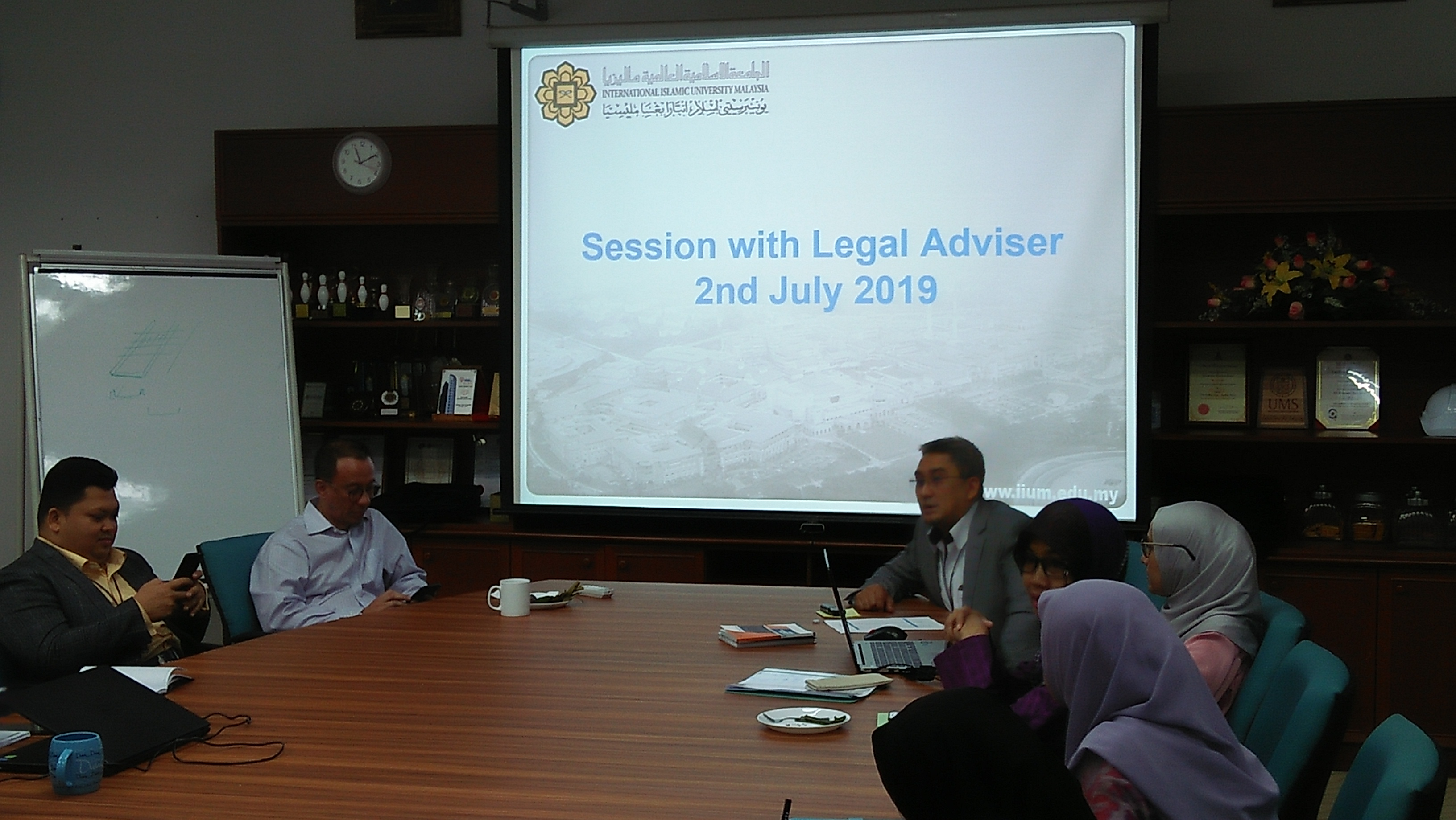 SHARING SESSION WITH THE LEGAL ADVISER