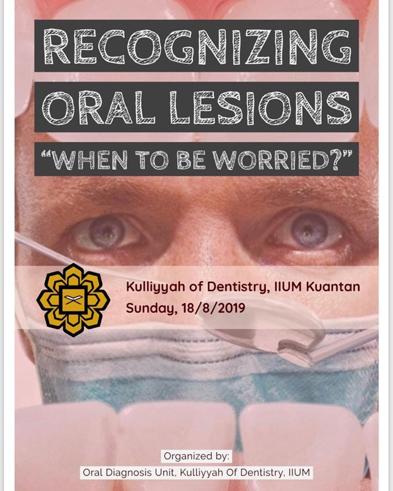 RECOGNIZING ORAL LESIONS: WHEN TO BE WORRIED?
