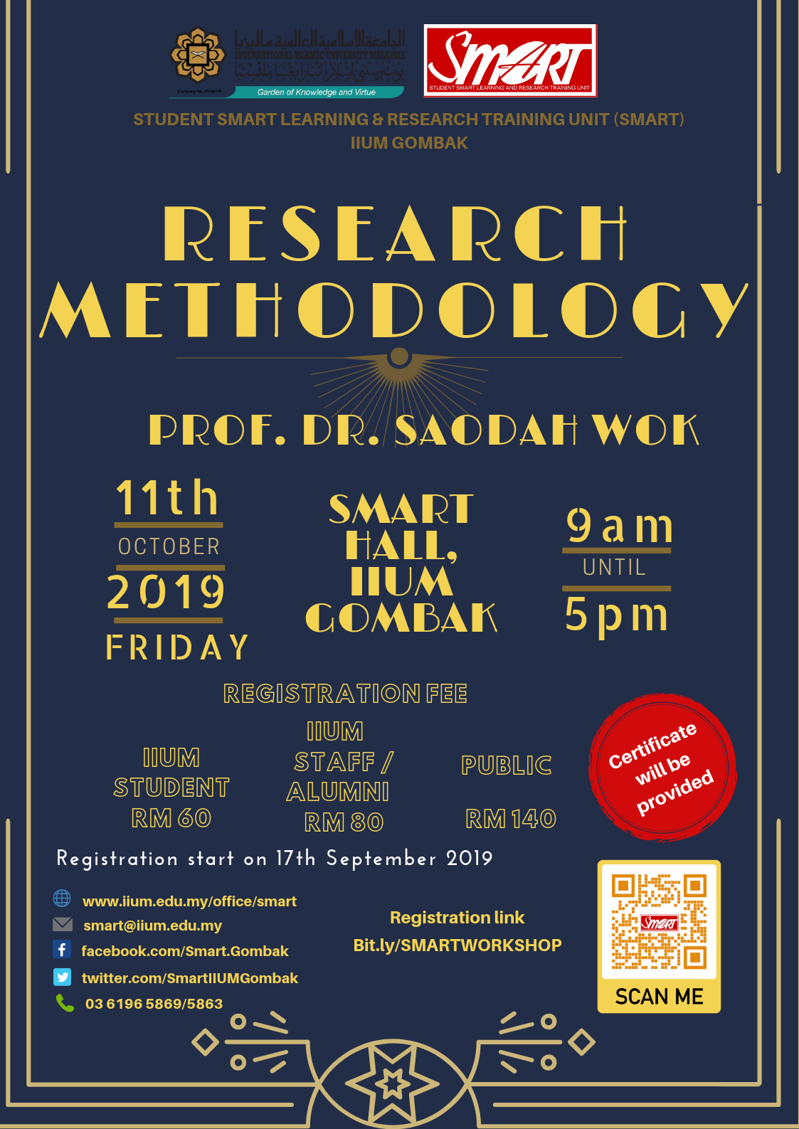 SEM 1, 19/20 - WORKSHOP - RESEARCH METHODOLOGY