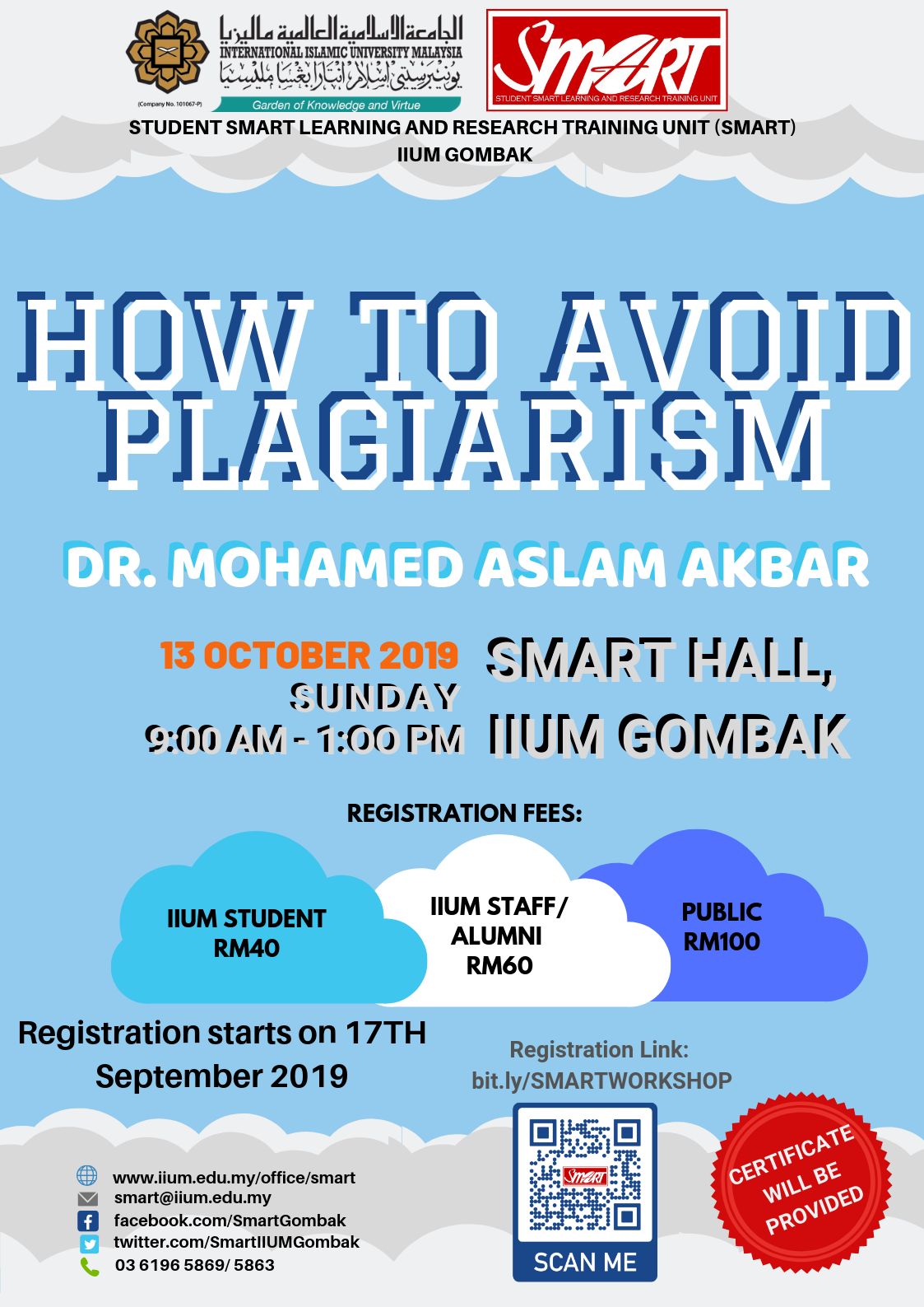 SEM 1, 19/20 - WORKSHOP - HOW TO AVOID PLAGIARISM