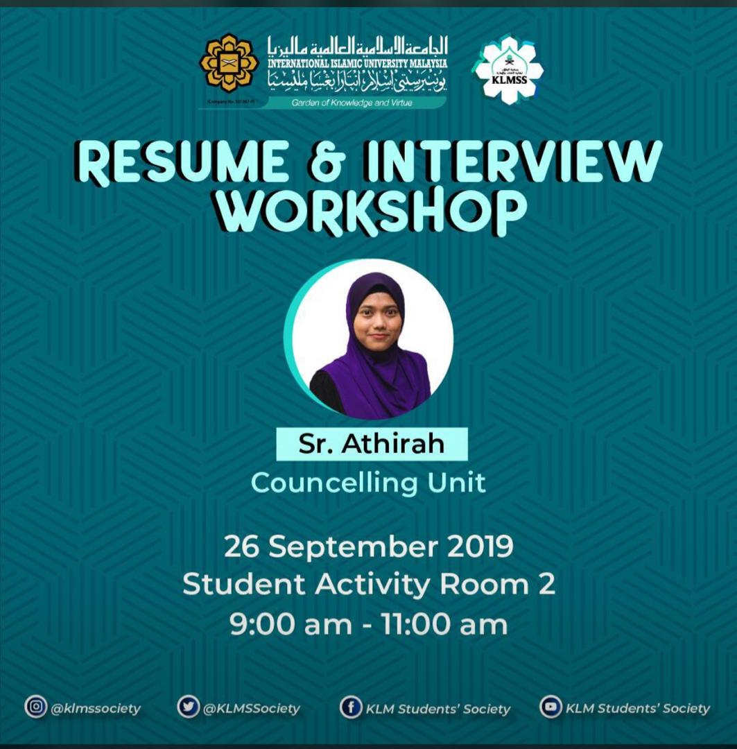 Resume & Interview workshop